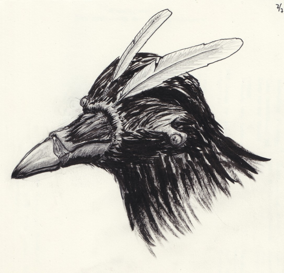 Corvosapien Head Feathers