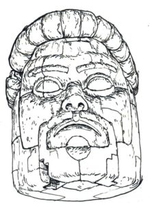 Simon Roys giant stone head lives in Vancouver, BC, where he vomits guns and bellows about the evils of the penis.